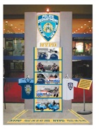 NYPD display stand